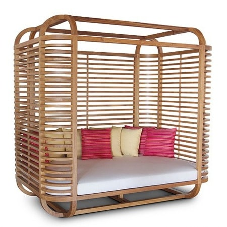Sapele day bed outdoor OUT DABE 0005